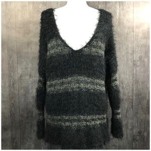 Free People Linus Stripe Pullover Sweater Size L
